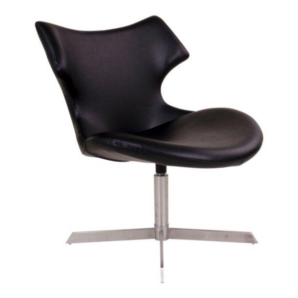 Class - hvilestol i sort PU læder.