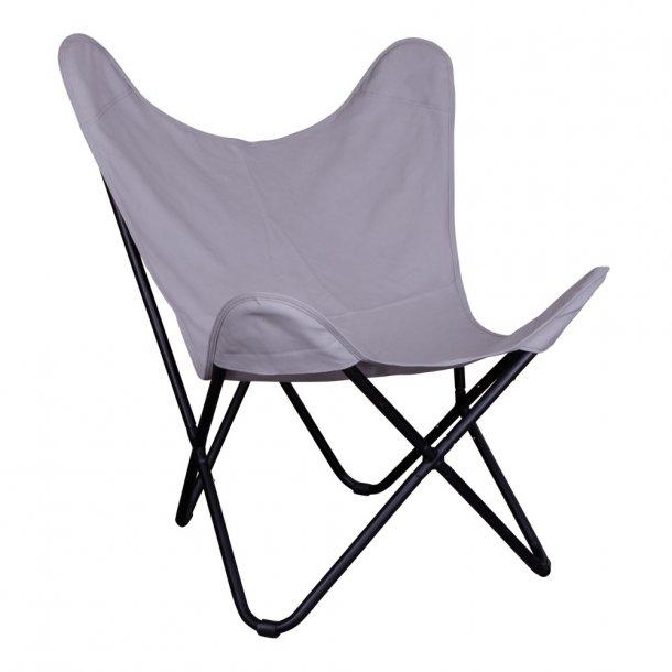 Como - klassisk retro stol i grå canvas