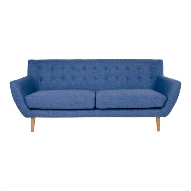 Curvy - 3 personers sofa, blåt stof