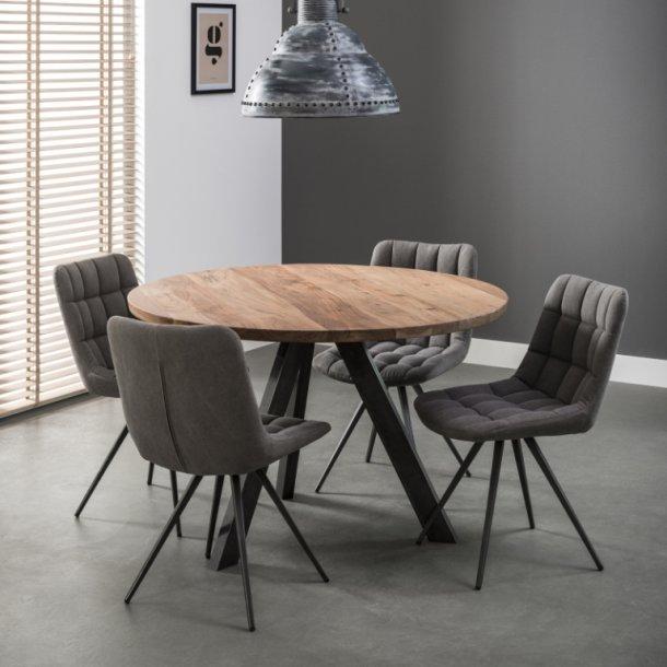 Jabb - Spisebord ø 120 cm., massiv akacie træ