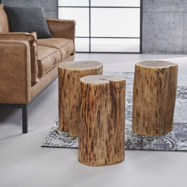 Bali - tre sofaborde, ø 35 cm.