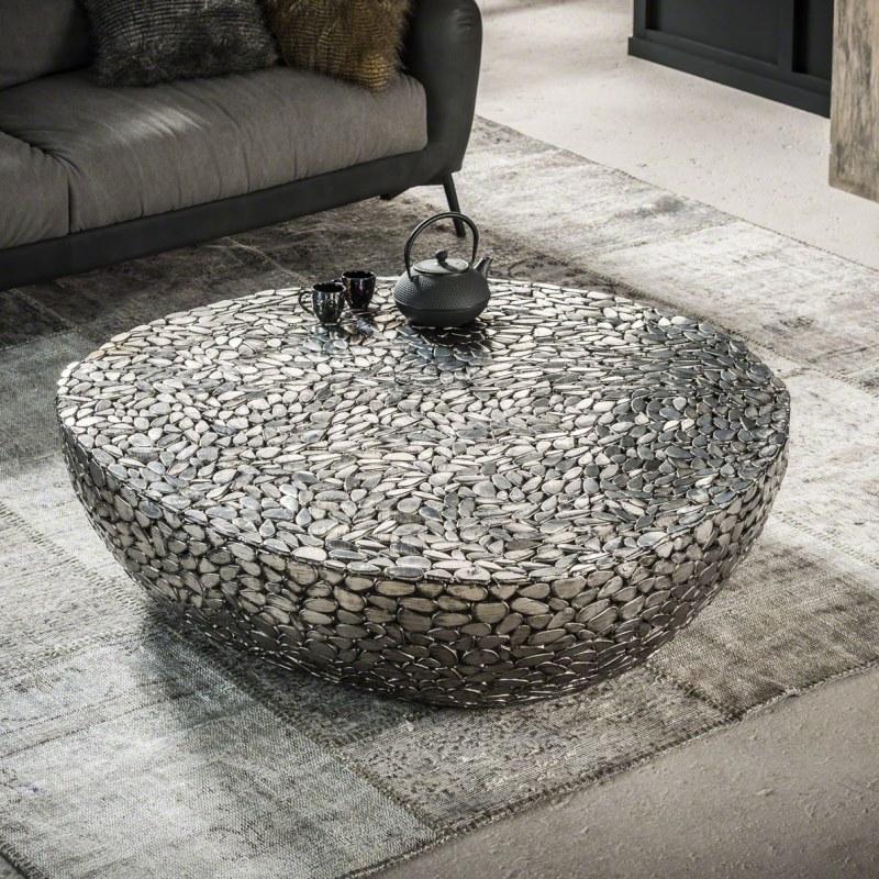 Jackstone - sofabord, antik nikkel, 110 x 120 cm. - Sofaborde i ...