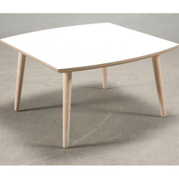 Boot - sofabord i hvid laminat med egeben, 4 størrelser.