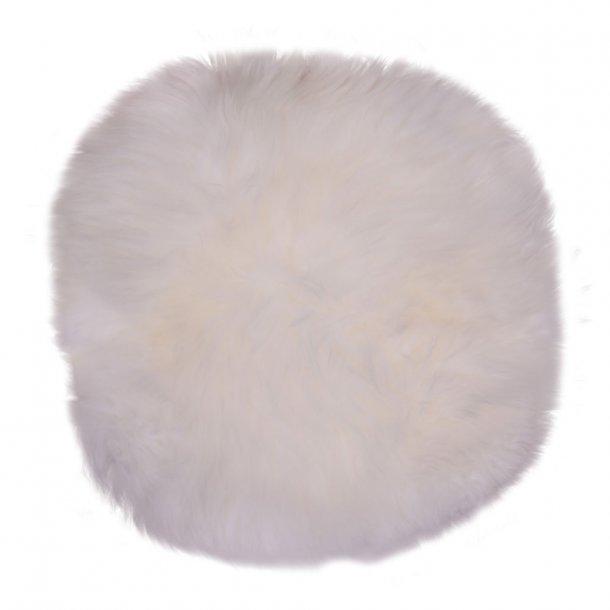 Landish - rundt sæde af ægte fåreskind, hvid