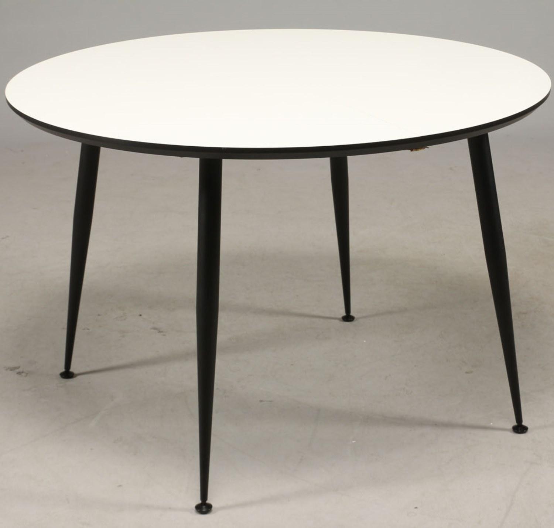 Smart DT 110 - spisebord, hvid laminat med sorte metal ben - Spiseborde VR28