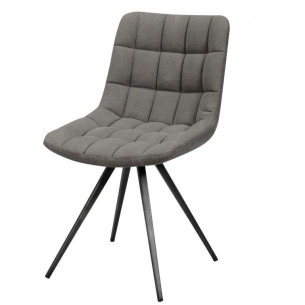 Holst - Spisebordsstol i gråt stof og sort metal.