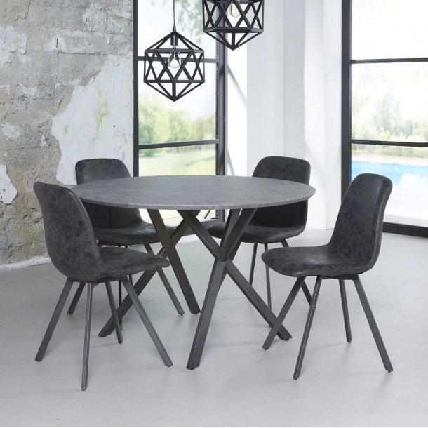 3D - rundt spisebord beton look, ø 120 cm.