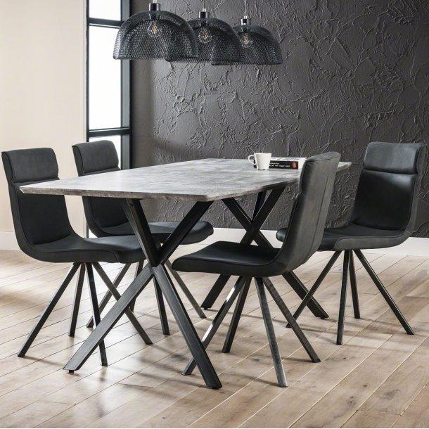 3D - spisebord beton look, 90 x 190 cm