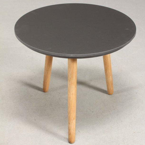 CT 30 - rundt sofabord i linoleum, egeben, 4 størrelser.