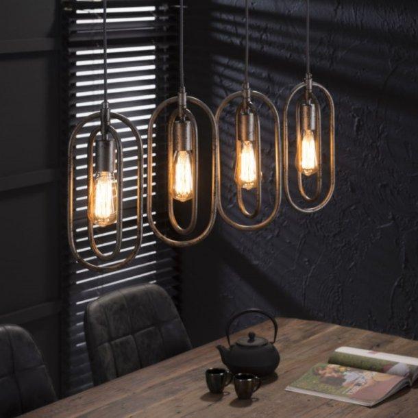 Z-7395, loftlampe, antik sølv finish, 4 lamper