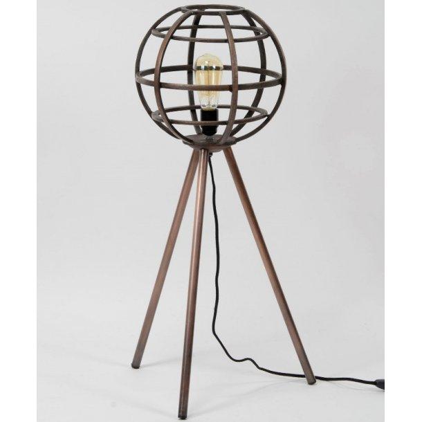Z 7583 - gulvlampe i antik kobber.