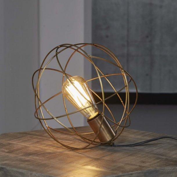 Z-7570, rund trådlampe, antik bronze