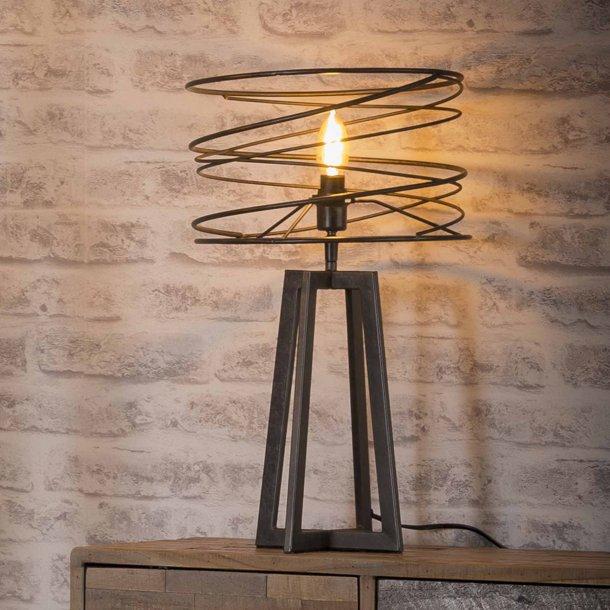 Z 7961 - Spiralformet bordlampe i dyb sort farve.