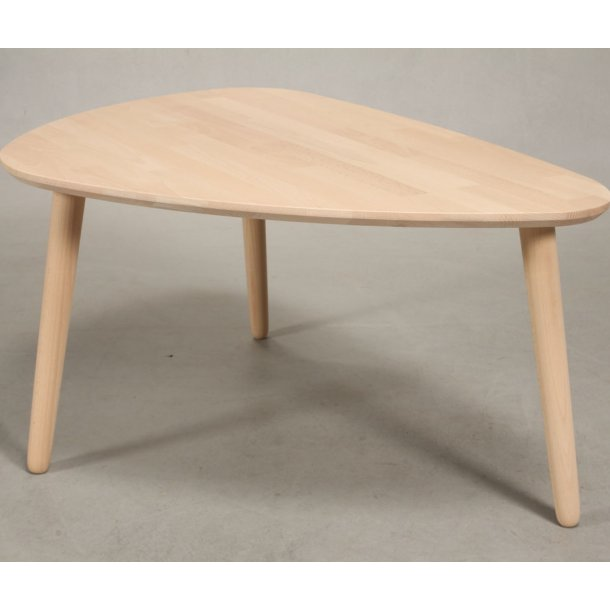 Lumber - sofabord i massiv bøg,  organisk trekant 118 x 82 cm