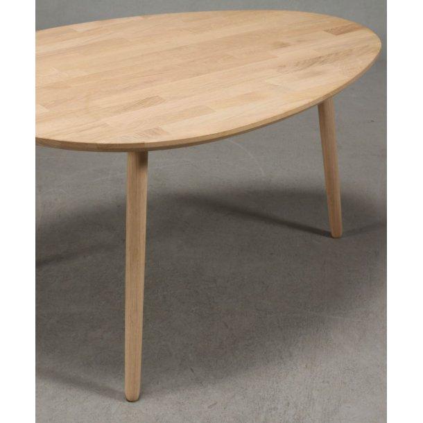 Lumber - sofabord i massiv eg,  dråbeform 89 x 66 cm