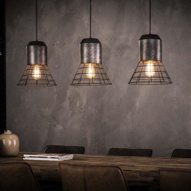 Z 7256- 3 loftlamper i antik sølv farve.