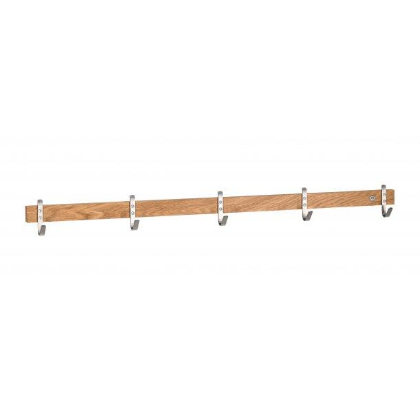 Kalmar  - knagerække med 5 kroge, 90 cm