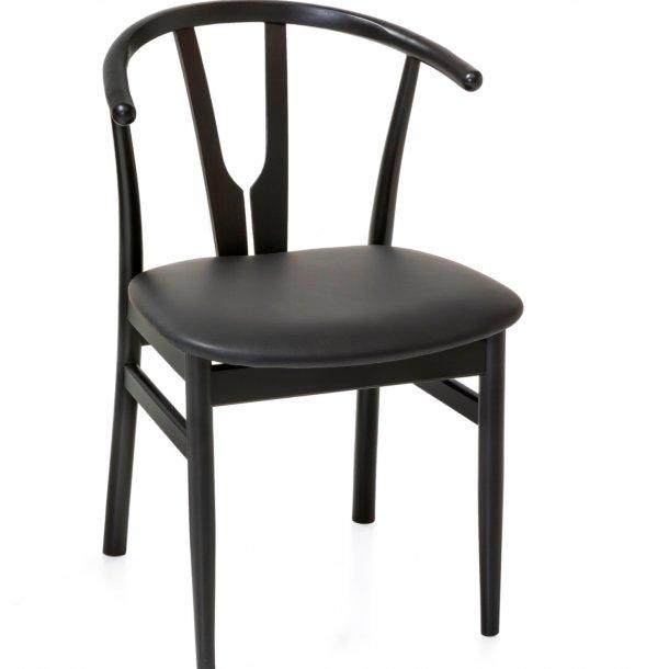 Hope - spisebordsstol med lædersæde