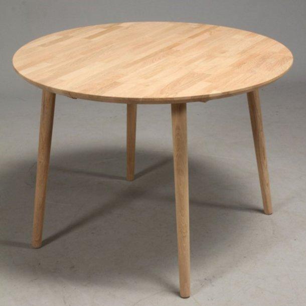 Lumber - rundt spisebord, massiv eg