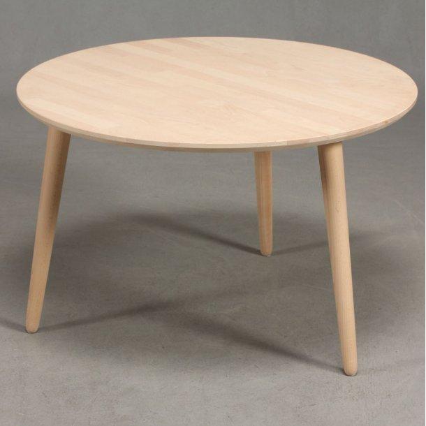 Lumber - sofabord i massiv bøg, ø 80 cm