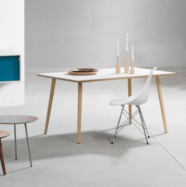 spisebord rundt hvidt
