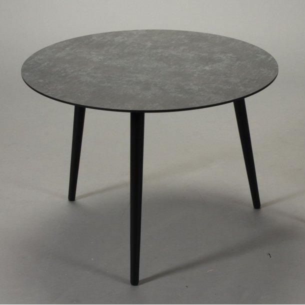 CT 20 - sofabord i mørk betonlook med træben, 4 størrelser.