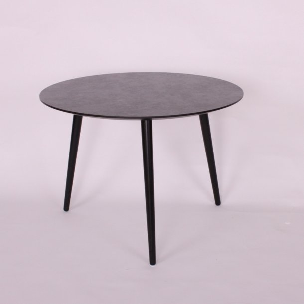 CT 20 - sofabord i mørk betonlook med stålben, 3 størrelser.