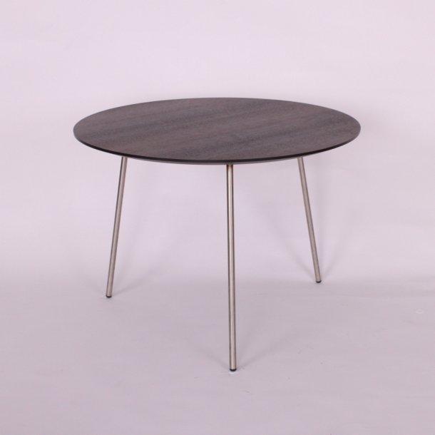 CT 40 - sofabord i røget ege finer, stålben, 3 størrelser.
