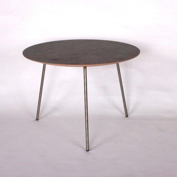 CT 20 - sofabord i rustlook med stålben, 3 størrelser.
