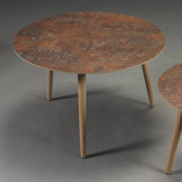 CT 20 - sofabord i rustlook med træben, 4 størrelser.