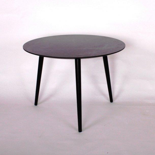CT 20 - sofabord i sort marmorlook med træben, 4 størrelser.